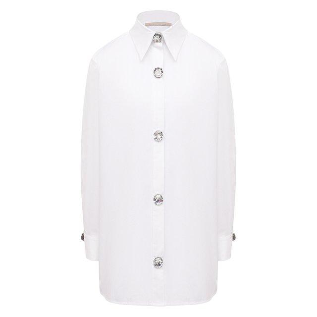 Хлопковая рубашка Christopher Kane