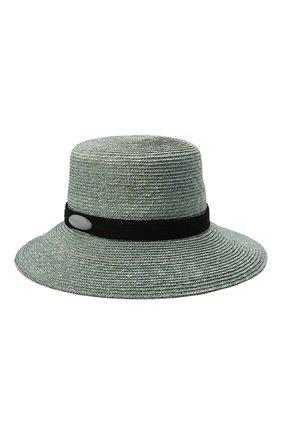 Женская соломенная шляпа GIORGIO ARMANI синего цвета, арт. 797013/1P502 | Фото 1