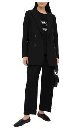 Женская хлопковая футболка Y`S черного цвета, арт. YT-T02-670 | Фото 2