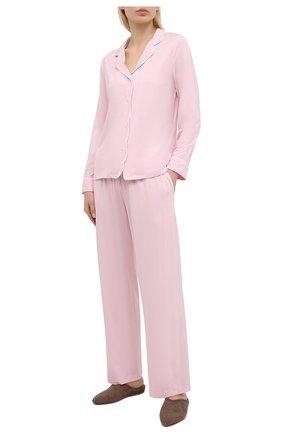 Женская пижама DEREK ROSE розового цвета, арт. 2033-LARA001   Фото 1