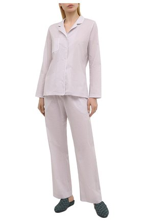 Женская хлопковая пижама DEREK ROSE розового цвета, арт. 2029-LEDB040 | Фото 1
