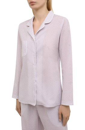 Женская хлопковая пижама DEREK ROSE розового цвета, арт. 2029-LEDB040 | Фото 2