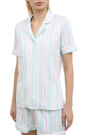 Женская хлопковая пижама DEREK ROSE светло-зеленого цвета, арт. 2024-MILL009 | Фото 2