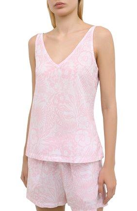 Женская хлопковая пижама DEREK ROSE розового цвета, арт. 2023-LEDB042 | Фото 2