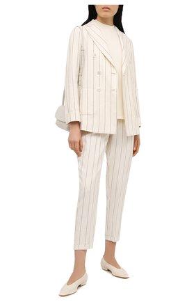 Женские брюки KITON светло-бежевого цвета, арт. D50106K09T16 | Фото 2