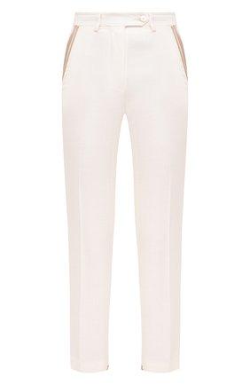 Женские брюки из вискозы KITON белого цвета, арт. D49132K09T11 | Фото 1
