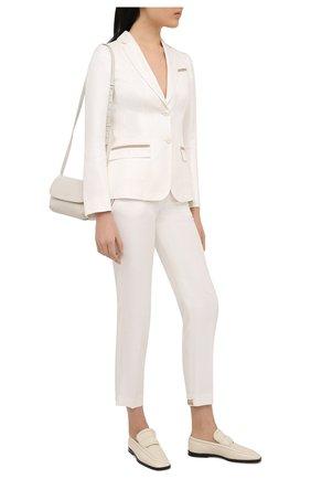 Женские брюки из вискозы KITON белого цвета, арт. D49132K09T11 | Фото 2