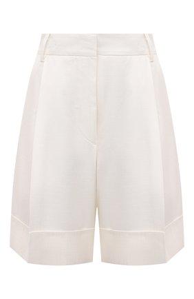 Женские шорты из вискозы KITON белого цвета, арт. D47117K09T11 | Фото 1