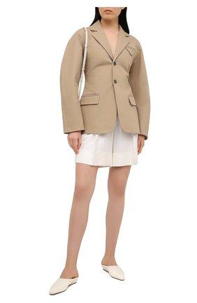 Женские шорты из вискозы KITON белого цвета, арт. D47117K09T11 | Фото 2
