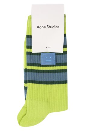 Женские носки ACNE STUDIOS зеленого цвета, арт. C80020/W | Фото 1