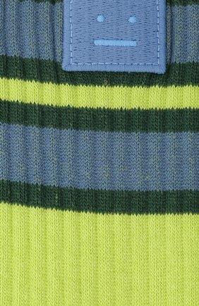 Женские носки ACNE STUDIOS зеленого цвета, арт. C80020/W | Фото 2
