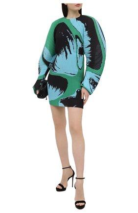 Женские замшевые босоножки julia 120 CASADEI черного цвета, арт. 1L562P1201CAM0S9000 | Фото 2