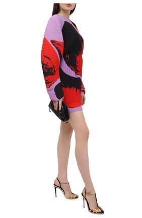 Женские кожаные босоножки jeannie 100 CASADEI золотого цвета, арт. 1L752S1001T0254A789 | Фото 2