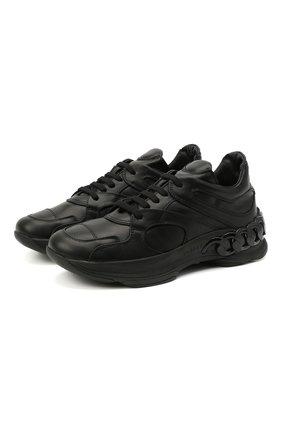 Женские кожаные кроссовки dynamic CASADEI черного цвета, арт. 2J902S0201SALEN9000 | Фото 1