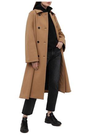 Женские кожаные кроссовки dynamic CASADEI черного цвета, арт. 2J902S0201SALEN9000 | Фото 2