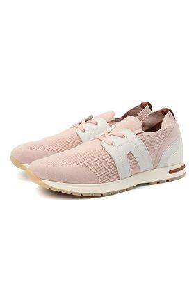Женские текстильные кроссовки 360 lp walk LORO PIANA розового цвета, арт. FAI7759 | Фото 1