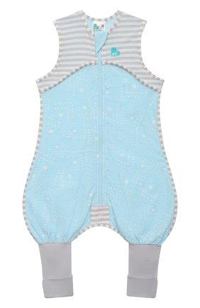 Детский хлопковый комбинезон LOVE TO DREAM голубого цвета, арт. L40 16 088 BLU 6M | Фото 1