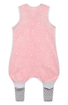 Детский хлопковый комбинезон LOVE TO DREAM розового цвета, арт. L40 16 088 PNK 6M | Фото 2