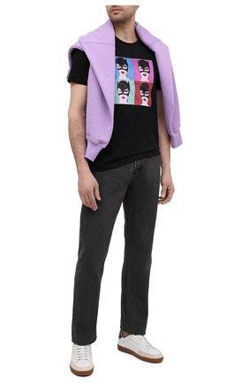 Мужская хлопковая футболка LIMITATO черного цвета, арт. BUNNIES/T-SHIRT | Фото 2