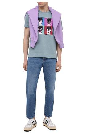 Мужская хлопковая футболка LIMITATO голубого цвета, арт. BUNNIES/T-SHIRT | Фото 2