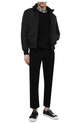 Мужской пуховый бомбер DSQUARED2 черного цвета, арт. S79AM0013/S53817 | Фото 2