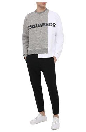Мужские шерстяные брюки DSQUARED2 черного цвета, арт. S74KB0549/S40320 | Фото 2