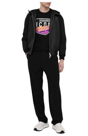 Мужская хлопковая футболка DSQUARED2 черного цвета, арт. S79GC0013/S23009 | Фото 2