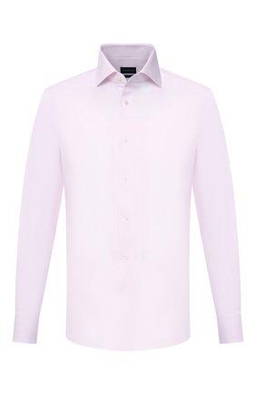 Мужская хлопковая сорочка ERMENEGILDO ZEGNA светло-розового цвета, арт. 901037/9MS0BA | Фото 1