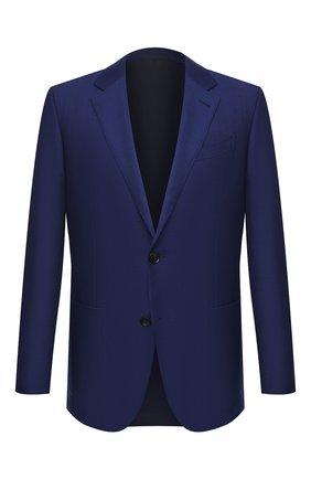 Мужской пиджак из шерсти и шелка ERMENEGILDO ZEGNA синего цвета, арт. 916557/122520 | Фото 1