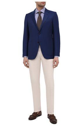 Мужской пиджак из шерсти и шелка ERMENEGILDO ZEGNA синего цвета, арт. 916557/122520 | Фото 2