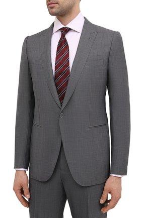 Мужской костюм из шерсти и шелка ERMENEGILDO ZEGNA серого цвета, арт. 916606/21C4A3 | Фото 2