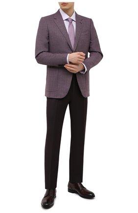 Мужской шерстяной пиджак ERMENEGILDO ZEGNA сиреневого цвета, арт. 951507/122520 | Фото 2