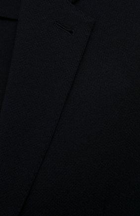 Мужской шерстяной пиджак ERMENEGILDO ZEGNA темно-синего цвета, арт. UWC60/SYF   Фото 5