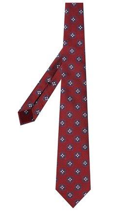 Мужской шелковый галстук ERMENEGILDO ZEGNA бордового цвета, арт. Z9D12/18B   Фото 2