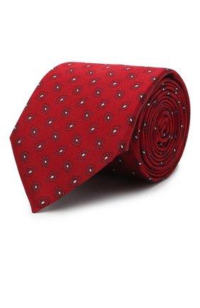 Мужской шелковый галстук ERMENEGILDO ZEGNA красного цвета, арт. Z9D42/100 | Фото 1