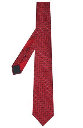 Мужской шелковый галстук ERMENEGILDO ZEGNA красного цвета, арт. Z9D42/100 | Фото 2