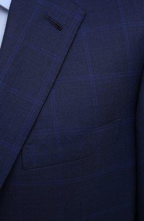 Мужской шерстяной костюм BRIONI синего цвета, арт. RAH00R/P0A2J/PARLAMENT0 | Фото 6 (Материал внешний: Шерсть; Рукава: Длинные; Костюмы М: Однобортный; Стили: Классический; Материал подклада: Купро)
