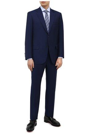 Мужской костюм из шерсти и шелка BRIONI синего цвета, арт. RAH00W/P0A1A/PARLAMENT0 | Фото 1
