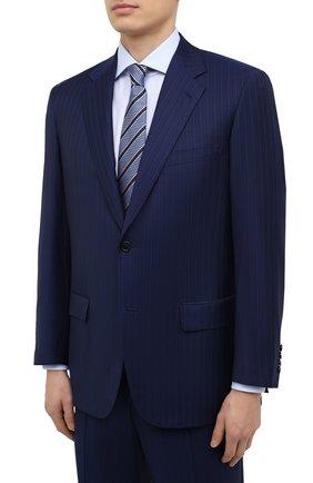 Мужской костюм из шерсти и шелка BRIONI синего цвета, арт. RAH00W/P0A1A/PARLAMENT0 | Фото 2