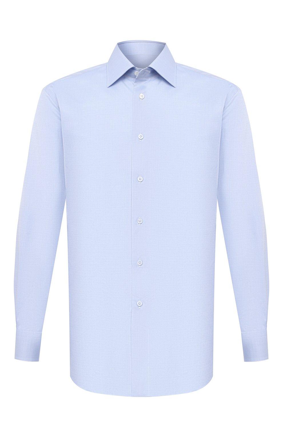 Мужская хлопковая сорочка BRIONI голубого цвета, арт. RCA20N/P007U   Фото 1