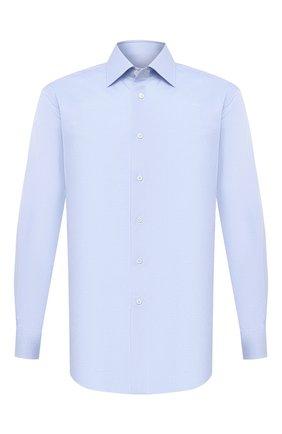 Мужская хлопковая сорочка BRIONI голубого цвета, арт. RCA20N/P007U | Фото 1