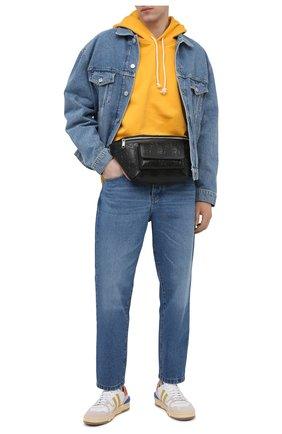 Мужская кожаная поясная сумка GUCCI черного цвета, арт. 645093/1W3CN | Фото 2 (Материал: Натуральная кожа)