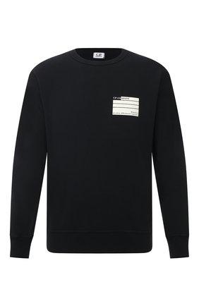 Мужской хлопковый свитшот C.P. COMPANY черного цвета, арт. 10CMSS296A-0053980 | Фото 1