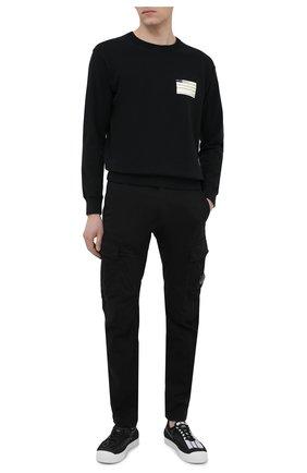 Мужской хлопковый свитшот C.P. COMPANY черного цвета, арт. 10CMSS296A-0053980 | Фото 2