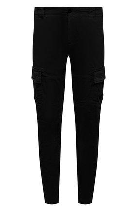 Мужские хлопковые брюки-карго C.P. COMPANY черного цвета, арт. 10CMPA151A-005694G | Фото 1