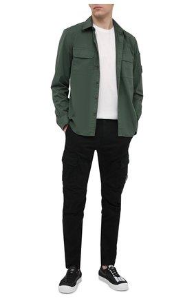 Мужские хлопковые брюки-карго C.P. COMPANY черного цвета, арт. 10CMPA151A-005694G | Фото 2