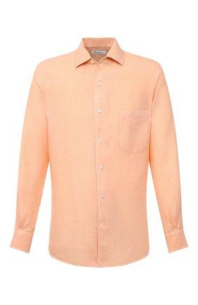 Мужская льняная рубашка LORO PIANA оранжевого цвета, арт. FAL6255 | Фото 1