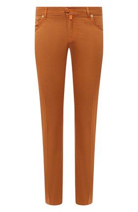 Мужские хлопковые брюки KITON оранжевого цвета, арт. UPNJSJ07T40 | Фото 1