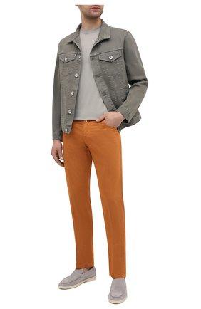 Мужские хлопковые брюки KITON оранжевого цвета, арт. UPNJSJ07T40 | Фото 2