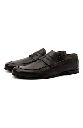 Мужские кожаные пенни-лоферы BARRETT коричневого цвета, арт. B171U064.4/CERV0 ASP0RTABILE | Фото 1 (Стили: Кэжуэл; Материал внутренний: Натуральная кожа; Мужское Кросс-КТ: Лоферы-обувь)